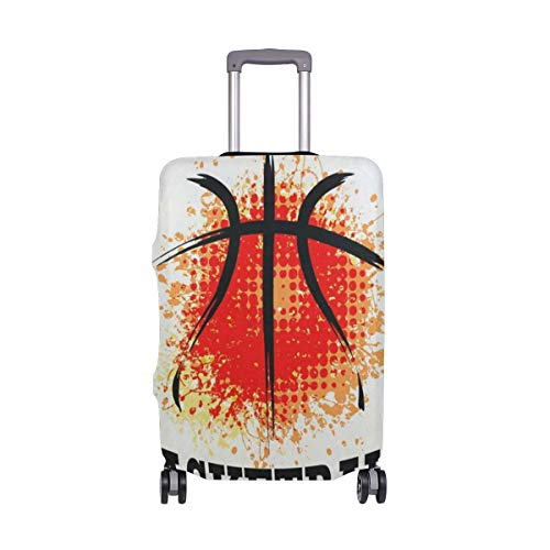 se Grunge Basketball Luggage Cover Travel Case Bag Protector for Kid Girls Travel Case Suitcase Cover Bag Protector 3D Print Design 26