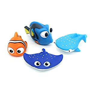 ALLCELE Kid Shower Toy Baby Bath Toys for Squirt, Finding Dory Nemo Toddler Swimming Pool Toys 4pcs