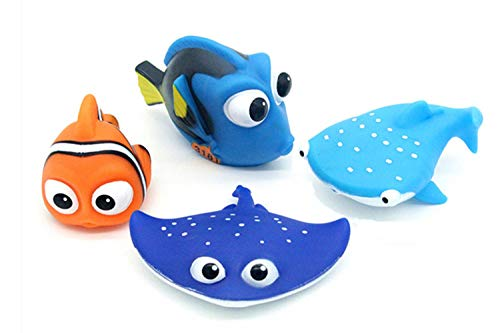 - ALLCELE Kid Shower Toy Baby Bath Toys for Squirt, Finding Dory Nemo Toddler Swimming Pool Toys 4pcs