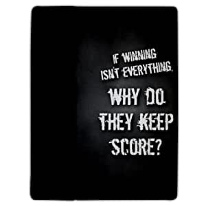 iPad 2/3 Cover Vince Lombard Quote If winning isn't... - Protective Leather Case