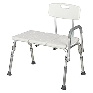 Mecor Medical Shower Chair Bathtub Seat Bench Stool 10 Height Adjustable  Bath Lift Chair With Removable