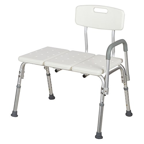 Mecor Medical Shower Chair Bathtub Seat Bench Stool 10 Height Adjustable Bath Lift Chair with Removable Back and - Bathtub Portable Bench Shower