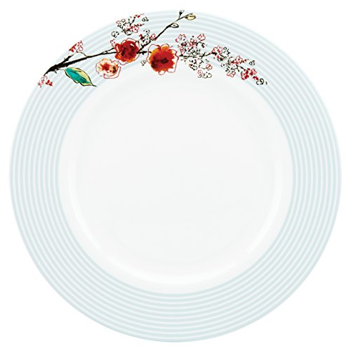 Lenox Chirp Stripe Dinner Plate, White