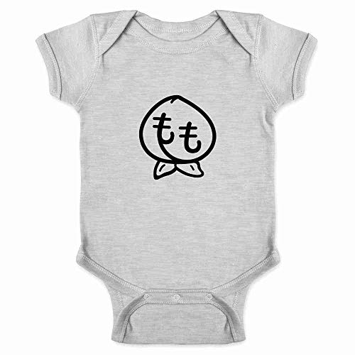 Pop Threads Momo Japanese Peach Cute Kawaii Gray 24M Infant Bodysuit