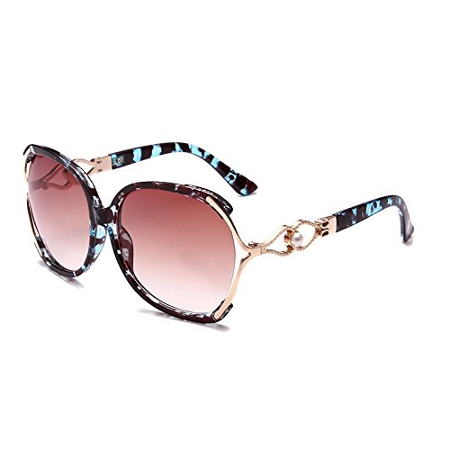 sobredimensionado C4 Leopard Butterfly mujer Leopard Blue TL Señoras Azul Vintage lujo gafas sol Sunglasses de C4 qvvpzZw0n
