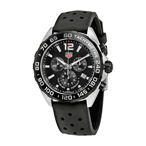 (TAG Heuer Men's 'Formula 1' Swiss Quartz Stainless Steel and Rubber Dress Watch, Color:Black (Model: CAZ1010.FT8024))