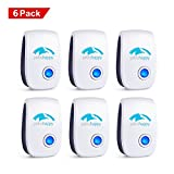 NEW 2018 - Ultrasonic Pest Repellent - 6 PACK - Electronic Plug In Pest Control for Insects- Mosquitoes, Mice, Spiders, Ants, Rats, Roaches, Bugs, Eco-Friendly, Pet Safe Repeller. By PatioHappy