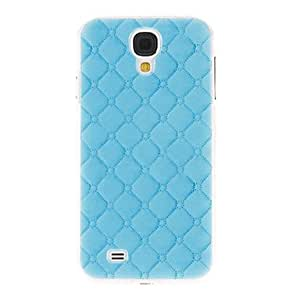 Modelo azul Gridding cubierta del estuche duro de protección de plástico para el Samsung Galaxy S4 i9500