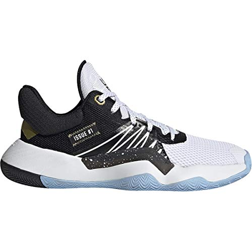 adidas D.O.N. Issue #1 Shoe - Junior's Basketball White/Core Black/Gold Metallic