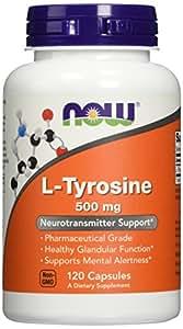 NOW L-tyrosine 500mg,120 Capsules