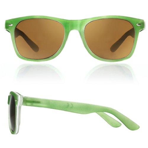 TM Negro Verde de sol cristales con ochentero ahumados diseño unisex Gafas 4sold negro qwS6dvv
