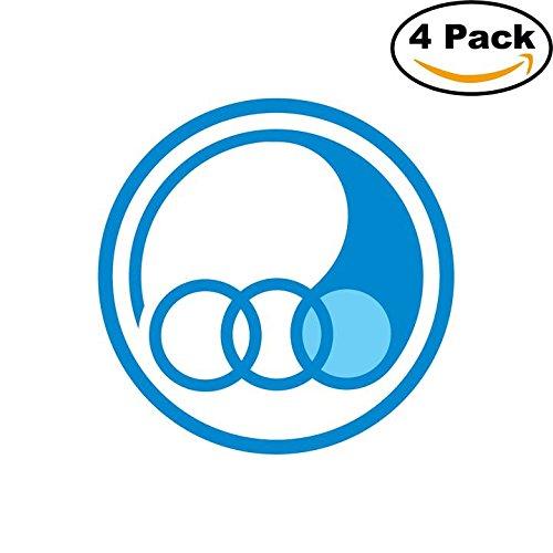 fan products of Esteghlal Iran Soccer Football Club FC 4 Stickers Car Bumper Window Sticker Decal 4X4