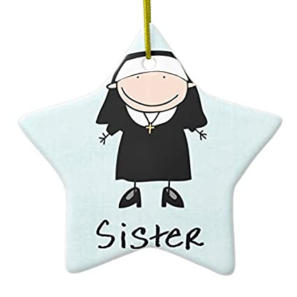 christmas gifts occupation nun religious vocation personalized ornament star xmas decor ornament yard decorations - Religious Christmas Yard Decorations