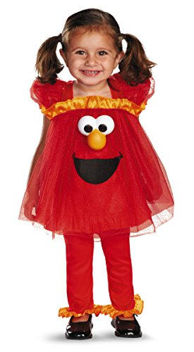 Disguise Costumes Sesame Street Frilly Light Up Elmo Infant Girl, Red/Yellow/Black, 12-18 Months