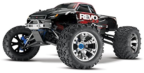 - Traxxas Revo 3.3: 1/10 Scale 4WD Nitro-Powered Monster Truck with TQi 2.4GHz Radio & TSM, Red