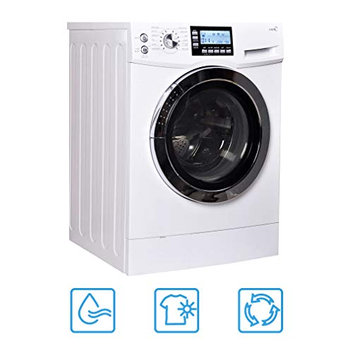 24″ Washer/Dryer Combo Compact Laundry with 2.0 Cubic. ft. Capacity Electric Dryer and Washer Stainless Steel Drum Auto Balance System White