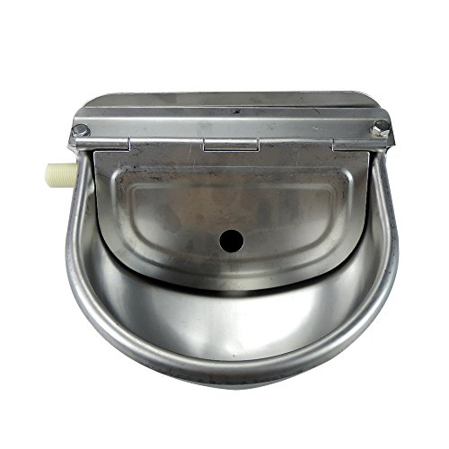 Stainless Steel Automatic Waterer Bowl Horse Cattle Goat Sheep Pig Dog Float Valve Water Trough Farm Supplies Livestocktool by livestocktool.com (Image #3)