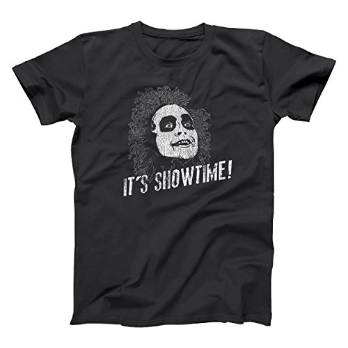 It's Showtime Funny Beetlejuice Halloween Mens Shirt Large -