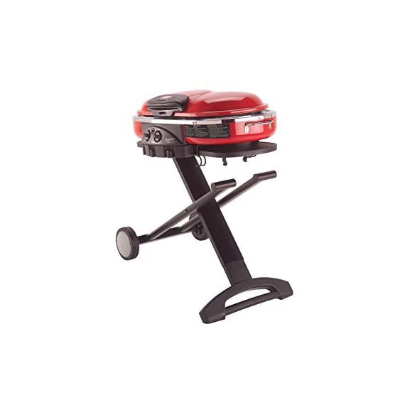 Coleman Propane Grill | RoadTrip LXE Portable Gas Grill 3 Perfect Flow Pressure Control System for steady heat, even in the cold Portable grill sets up in seconds East to transport, folds to compact size with large handle and wheels for easy pulling