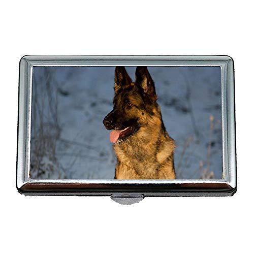 Cigarette Case,Colorful Cute Dog Dog b q,Credit Business Card Holder Case Storage Box ()