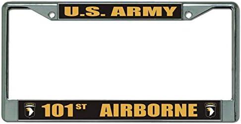 Army 101st Airborne Black License Plate Frame License Plates Online U.S