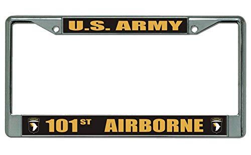 U.S. Army 101st Airborne Black License Plate Frame