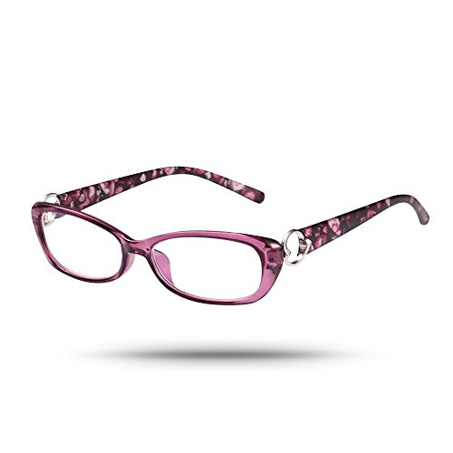 Price comparison product image Vintage Inspired Oval Frame Unisex Ultra-clear Reading Eyeglasses in Retro Purple (2)