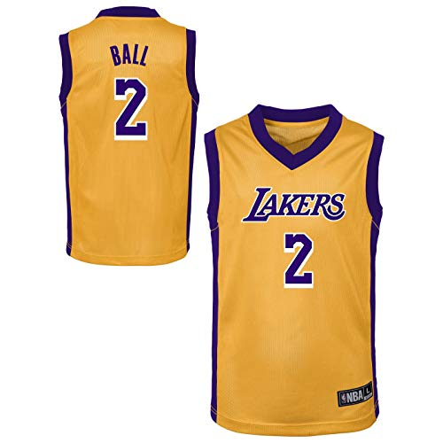 Outerstuff NBA Toddler Team Color Player Name & Number Replica Road Jersey (3T, Lonzo Ball Los Angeles Lakers)