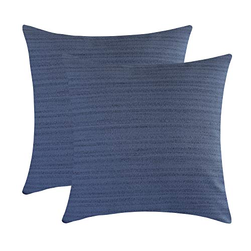 - The White Petals Dark Blue Euro Sham Covers for Bed (26x26 inch, Pack of 2)