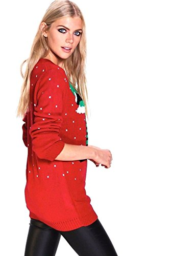 Taille Pull WARDROBE FLIRTY Femme Red Unique qwFttH5