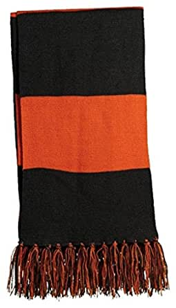 Sport-Tek Spectator Scarf>One size Black/Deep Orange STA02