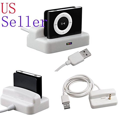 FYL USB Charger & Sync Dock Cradle for Apple iPod Shuffle...