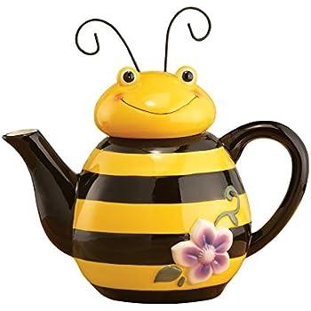 Bee Shaped Ceramic Kitchen Teapot Yellow