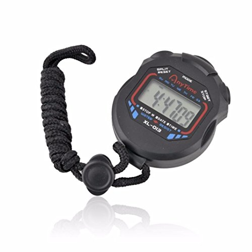DEESEE(TM)LCD Professional Digital Handheld Chronograph Sports Stopwatch Timer Stop Watch