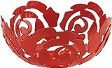 La Rosa by Emma Silvestris Fruit Bowl Size: 4.25'' H x 11.5'' W, Color: Flower Red