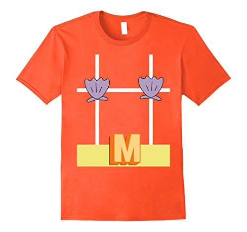 Male Mermaid Halloween Costumes - Mens Mermaid Man Costume T-Shirt Halloween 2017 Large Orange