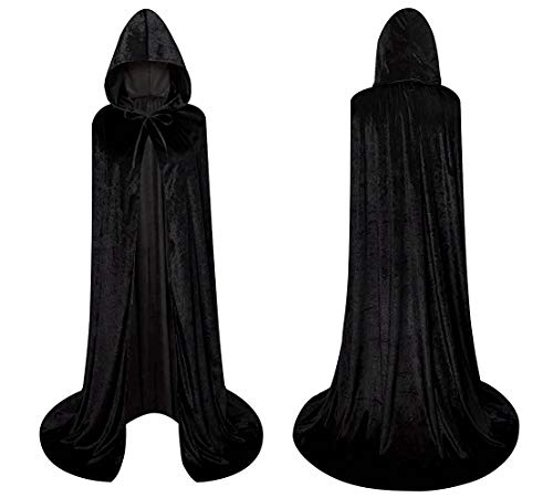 (Death Cloak Unisex Hooded Cloak Role Cape Play Family Costumes Full)