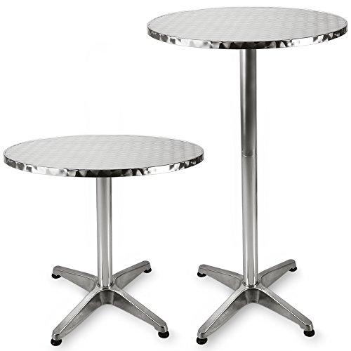 Stehtisch Bistrotisch aus Aluminium höhenverstellbar 70cm - 115cm, Ø 60cm