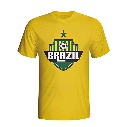 Brazil Country Logo T-shirt (yellow) Kids B01DUIAG5MYellow XLB (12-13 Years)