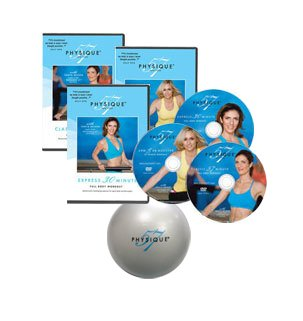 The Complete Physique 57 Workout Kit 3 Disc Set With Exercise Ball from Physique 57