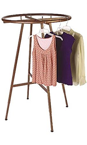 Boutique Cobblestone Round Clothing Rack 48'' x 72'' x 3'' by STORE001
