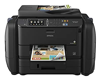 Epson WorkForce Pro WF-R4640 EcoTank Wireless Color All-in-One Supertank Printer with Scanner, Copier, Fax, Ethernet, Wi-Fi, Wi-Fi Direct, Tablet and Smartphone (iPad, iPhone, Android) Printing, Low-Cost Replacement Ink Packs