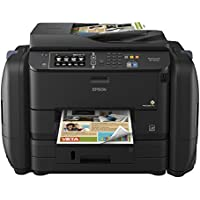 Epson WorkForce Pro WF-R4640 EcoTank Wireless Color All-in-One Supertank Printer with Scanner, Copier, Fax, Ethernet, Wi-Fi, Wi-Fi Direct, Tablet and Smartphone (iPad, iPhone, Android) Printing, Low-Cost Replacement Ink Packs, Amazon Dash Replenishment Enabled