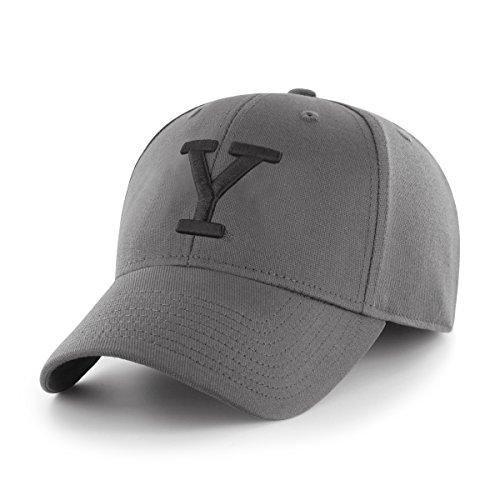 Yale University Baseball (OTS NCAA Yale Bulldogs Comer Center Stretch Fit Hat, Charcoal, Medium/Large)