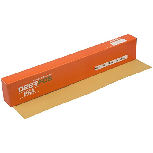 """Abrasive Sandpaper Sheets On Clearance 2.75"""" x 16.5"""" 50-Count Pack with PSA Backing and Premium Aluminum Oxide Multiple Grits is Ideal for Automotive Car Body Repair and Woodworking (P400 Grit)"""