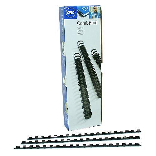 Spines, .375 Inch Spine Diameter, 55 Sheet Capacity, Black, 100 Spines per Pack (4090302P) ()