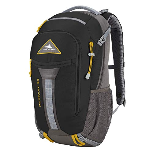 High Sierra Pathway Internal Frame Hiking Backpack – Internal Frame Backpack with Hydration Port – Compatible with 3-Liter Hydration Reservoir – for Hiking, Camping, or Trekking Adventure