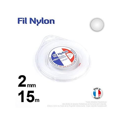 Ryobi-Desbrozadora inalámbrico nylon redondo 2 mm, 15 m, con funda ...