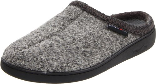 Haflinger Unisex AT Boiled Wool Hard Sole Slipper, Grey Speckle, 38 EU (Women's 7 M US/Men's 5 D US)