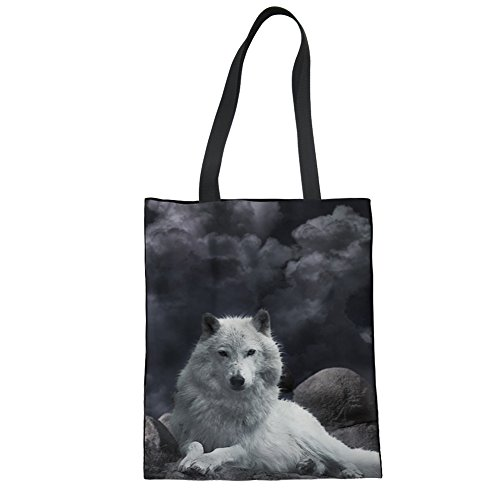 Showudesigns CC3006Z22, Borsa a mano donna Nero Nero  Taglia unica wolf